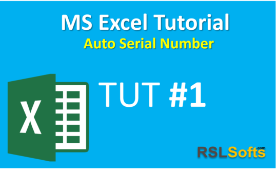 Excel Auto Serial Number