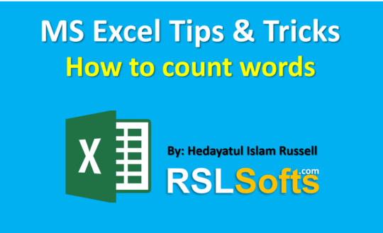 Word-Count-in-MS-Excel